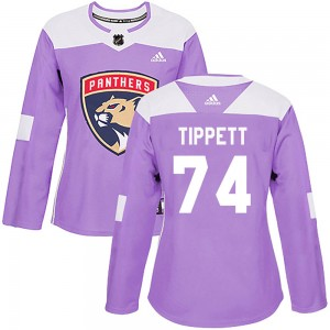 Women's Adidas Florida Panthers Owen Tippett Purple ized Fights Cancer Practice Jersey - Authentic