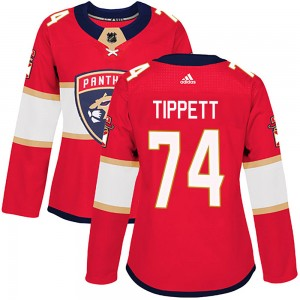 Women's Adidas Florida Panthers Owen Tippett Red Home Jersey - Authentic