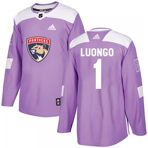 Youth Adidas Florida Panthers Roberto Luongo Purple Fights Cancer Practice Jersey - Authentic