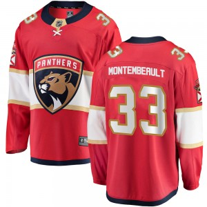 Youth Fanatics Branded Florida Panthers Sam Montembeault Red Home Jersey - Breakaway