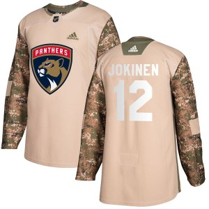 Youth Adidas Florida Panthers Olli Jokinen Camo Veterans Day Practice Jersey - Authentic