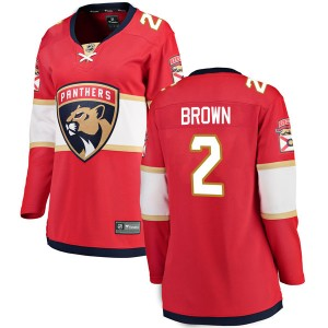 Women's Fanatics Branded Florida Panthers Josh Brown Red Home Jersey - Breakaway